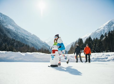 Eislaufen im Stubaital, Eislaufen mit Kindern im Stubaital