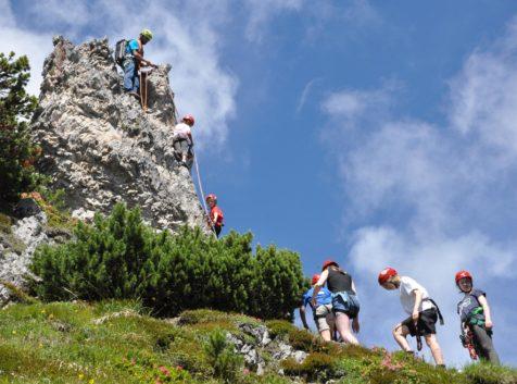 Klettern mit Kindern im Stubaital
