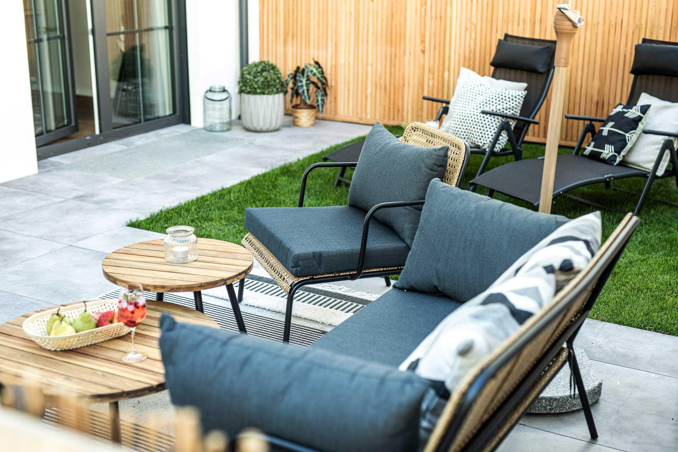 Garten mit terrasse apartment oskar